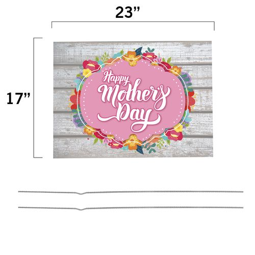 Happy Mother's Day Yard Sign Dimensions