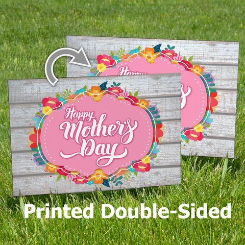 Double-Sided Happy Mother's Day Yard Sign