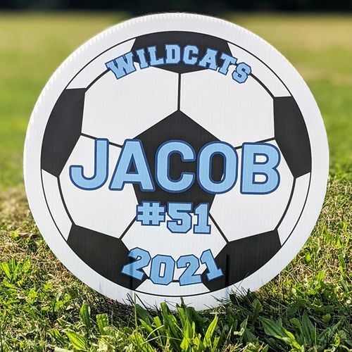 Soccer personalized yard sign