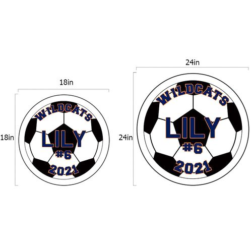 Soccer yard sign dimensions