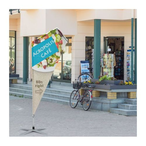 This flag is made to be displayed outdoors so it can draw attention to your business