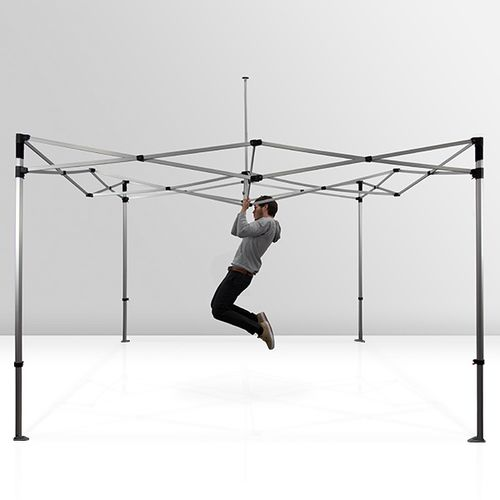 Hexagonal aluminum frame is sturdy and can withstand frequent use