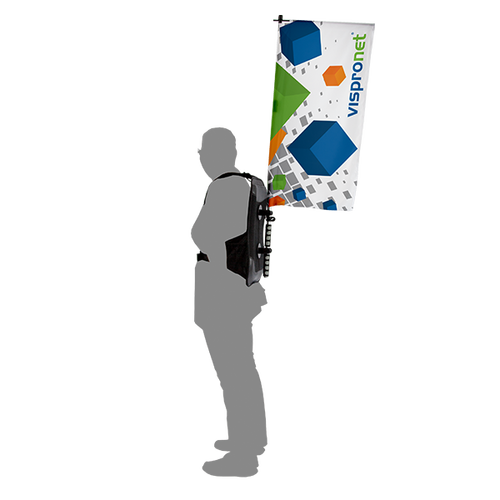 Promotional Backpack Flag in 3.0' print height
