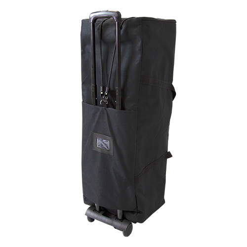 Strap your Pop Up Portable Booth bag to the trolley and wheel away