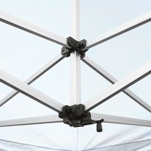The Pop Up Tent frame is made of durable aluminum, and can withstand continuous use