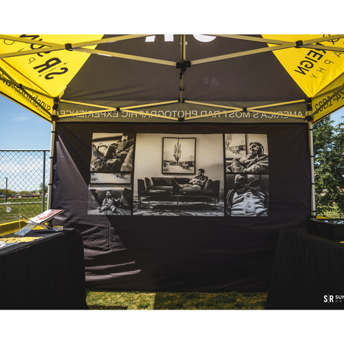 Tent wall for a customer