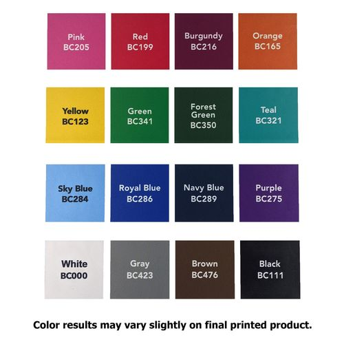 Choose from various background colors