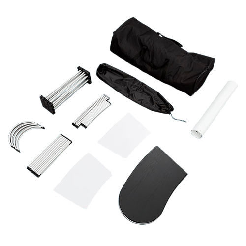 Easily disassembles and fits into the include carrying case