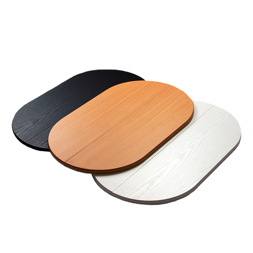 Easily add on a wood-grain black, white or light wood tabletop