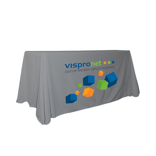 6ft Colored Convertible Table Throw with Logo Print