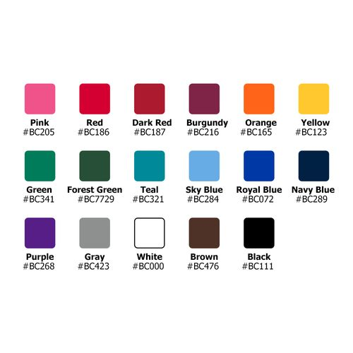 Color options for the Colored Fitted Round Table Throw with Logo Print