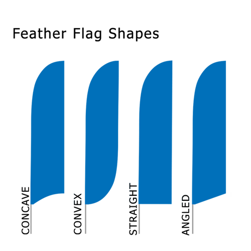 Four feather flag shapes to choose from