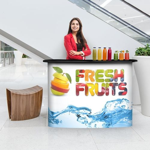 Can be used at trade shows, conferences, retail kiosks and more
