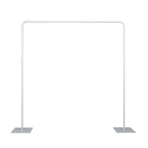 """Frame rests on two (2) 12"""" x 12"""" base plates made of steel"""