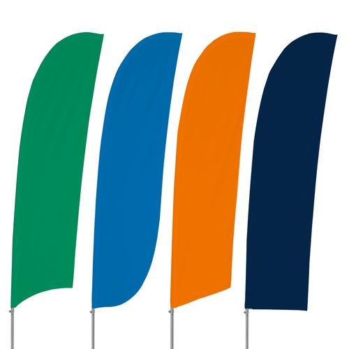 Solid Color Feather Flag Kit