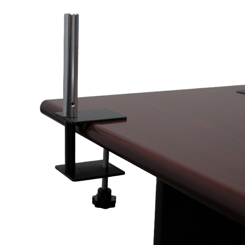 Table clamps securely attach to table ends