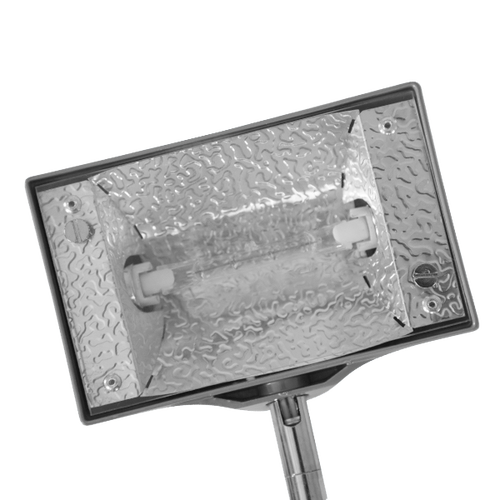 Halogen bulb is protected by durable casing