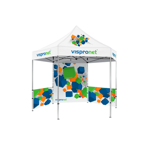 Add a tent canopy with your own custom design