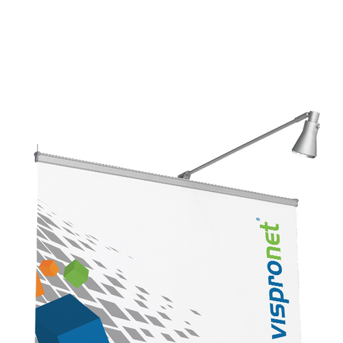 The light attaches tightly to the top of the banner stand