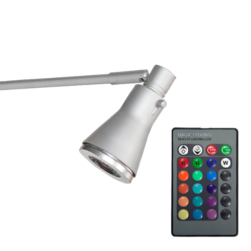 Included remote control lets you change the color of the light or set it to color changing loop