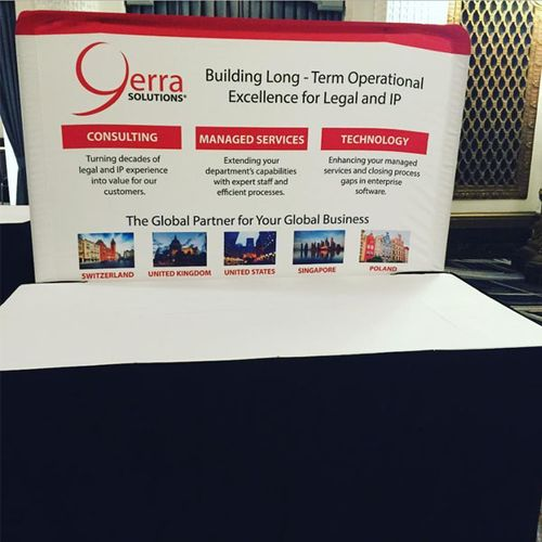 6ft Short Table Banner Stand Display for a customer