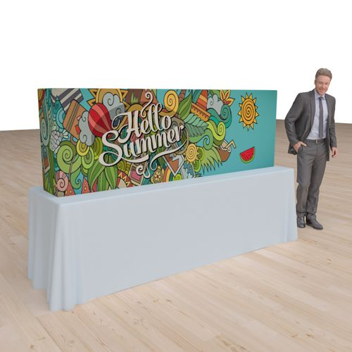 Pop Up Portable Booth 7.4ft x 2.5ft with sides