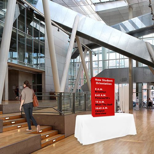 Portable Booths are versatile - use them as promotional, informational or directional displays