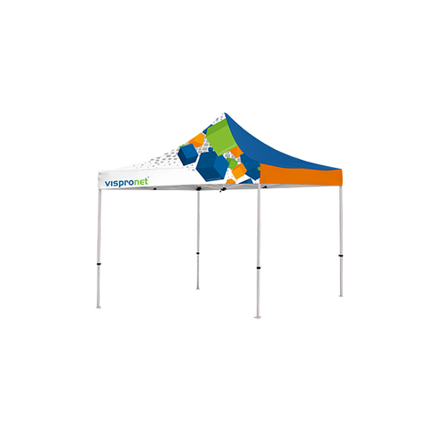 Optional canopy can be attached and features your custom design