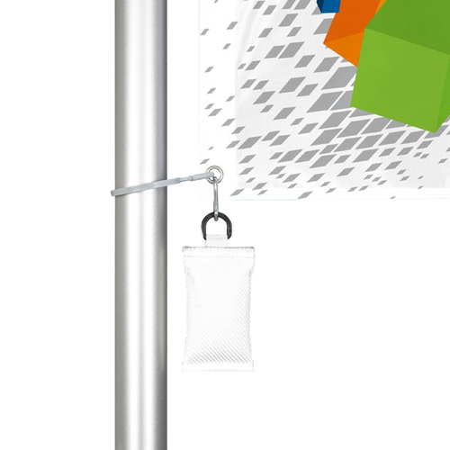 Attaches to flag with a number of different options, including Carabiner Snap Hook and Spring Snap (each sold separately)