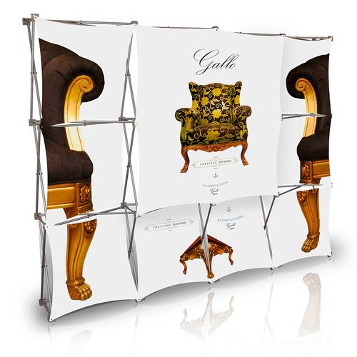 Stretch Panel Pop Up Booth 9.8ft x 7.4ft - 4305
