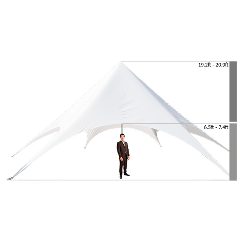 Adjustable heights ranging from 19.2ft - 20.9ft