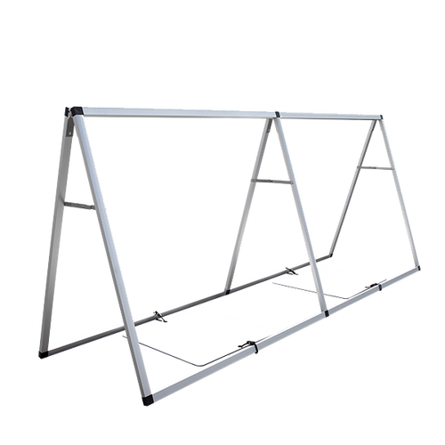 Base plates can be attached when used on level surfaces to place weights on