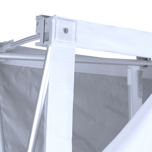 Print attaches to frame with hook-and-loop fastener