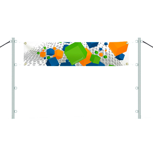 Banner with In-Ground Banner Post Set  - 1.0ft
