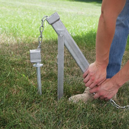 Steel Ground Stake Puller removes Ground Stakes with ease