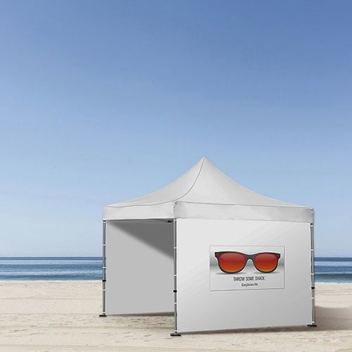Be flexible - Change your tent wall design in minutes