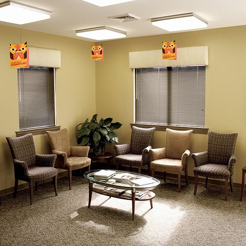 Great for lobbies and waiting rooms