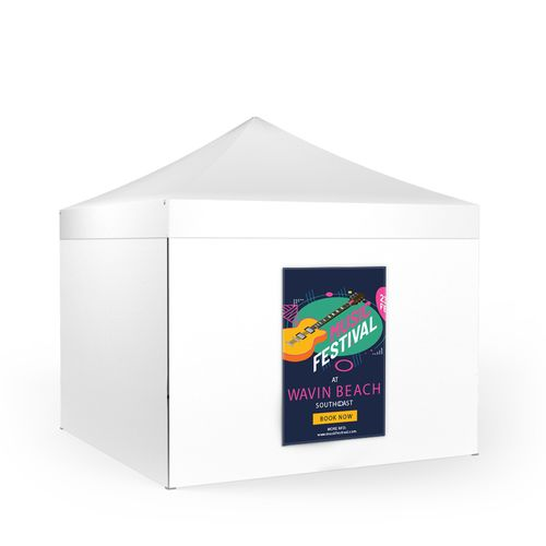 Removable Tent Wall Banner Portrait